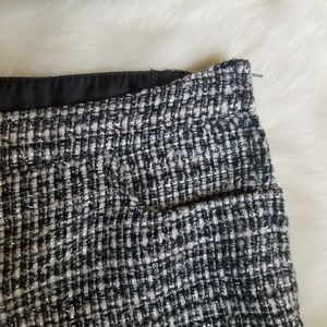 H&M Shorts - H&M Plaid Skirt Black White Size 8